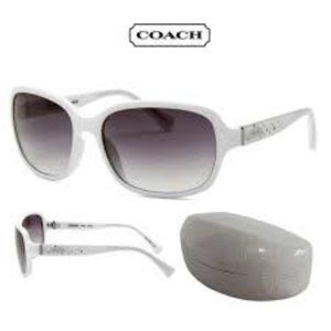 AUTHENTIC COACH WHITE SUNGLASSES - STYLE # S3103